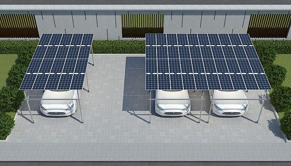 Solar Pergola Carport Powerwatt Solar With Images Solar Pergola Pergola Carport Roof Solar Panel