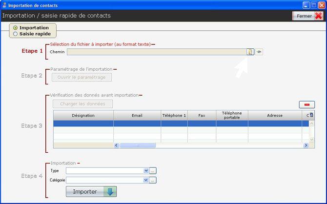 Tableau de bord général pour les paramètres des importations simplifiées dans le logiciel CRM PROContact http://www.leprogiciel.com/actualites/actualites-logiciels/59-importation-contacts-logiciel-crm.html