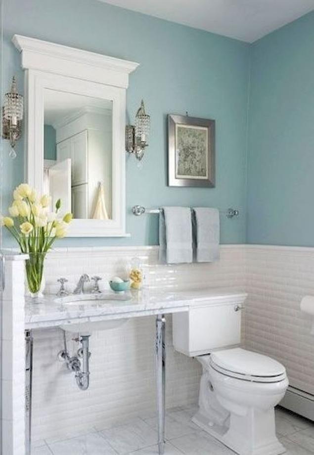 Wonderful Blue And White Bathroom Decor And 100 Ideas Designs De Petite Salle De Bains Decoration De Salle De Bain Bleue Salle De Bain Minimaliste