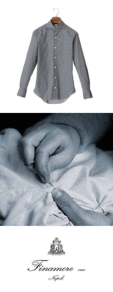 Finamore(フィナモレ) 半世紀以上も男性たちに支持されてきたフィナモレは、ナポリのテーラリングの伝統を拠り所としながら、マシンメイドにはない手縫いならではの着心地の良さを実現している。フィナモレのシャツを身につけることは、クチュリエ仕立てのシャツだけが伝えることのできる細やかな感性が作り出す世界との出会いでもある。