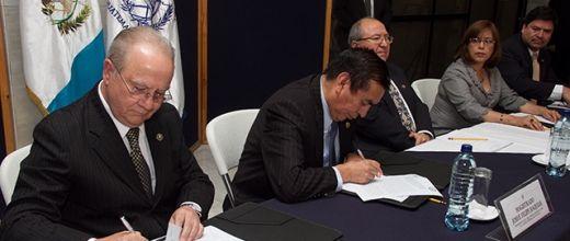 El Organismo Judicial firma convenio de cooperación académica  con la Corte de Constitucionalidad