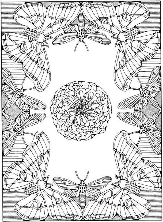 butterfly coloring page diy printables pinterest butterfly adult coloring and mandala