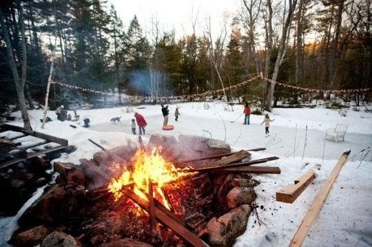 diy ice skating rink in your back yard
