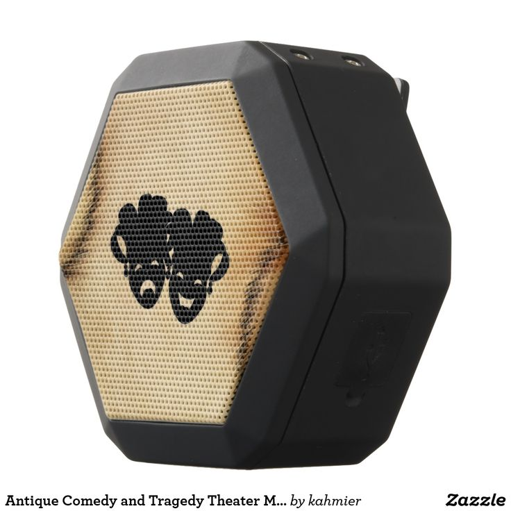 Antique Comedy and Tragedy Theater Masks Jester Black Bluetooth Speaker 40% off