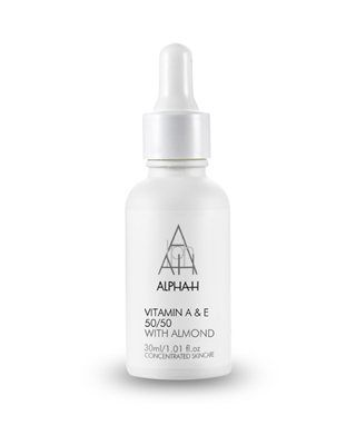 Vitamin A & E 50/50 - An intensive night time restorative treatment for thickened, pigmented and acne scarred skin. High measures of Vitamins A and E are time released to encourage tissue regeneration, boost the immune system and accelerate healing.