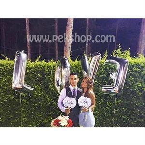 Uçan LOVE harf büyük folyo balonlar düğün , nişan organizasyonlarınıza eğlence katacak. İster altın ister gümüş renkli. Tüm harf ve rakam folyo balonları sitemizde bulabilirsiniz. www.pekshop.com