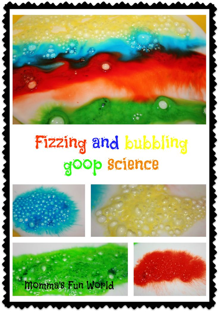 Momma's Fun World: Fizzing and bubbling goop kids science