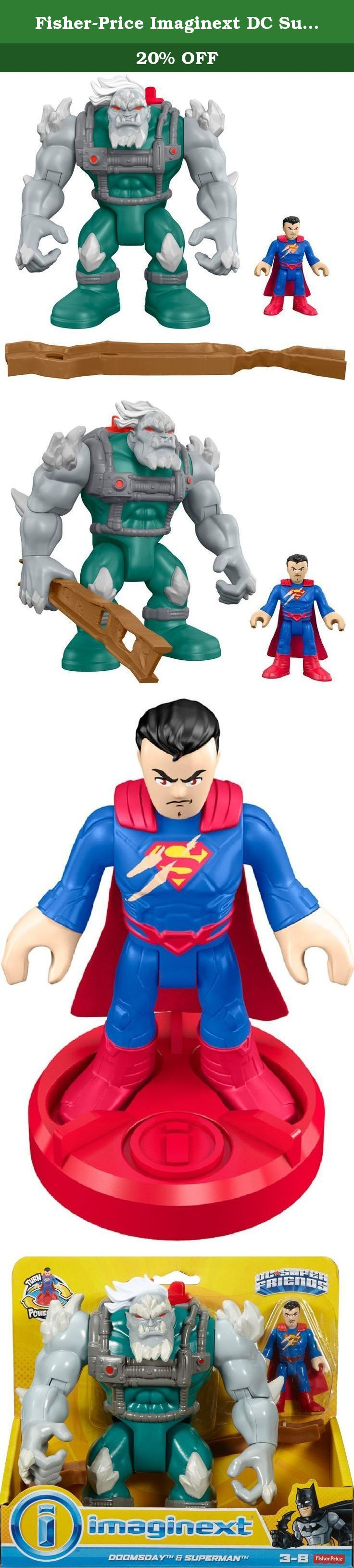 Fisher-Price Imaginext DC Super Friends Doomsday and Superman. Has the Man of Steel finally met his match? The result of Kryptonian genetic engineering gone wrong, Doomsday is a monster who's a real threat to Superman and Metropolis! Kids can create epic battles between these two DC Super Friends figures - with exciting Imaginext features to bring their stories to life. Just turn the Power Pad right to activate Doomsday punching action - and turn it left to have Doomsday swing the...