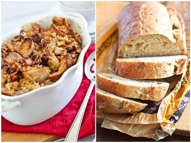 A Healthy bread pudding? Apple Cinnamon Bread Pudding. It subs applesauce for the butter. I'm dubious.