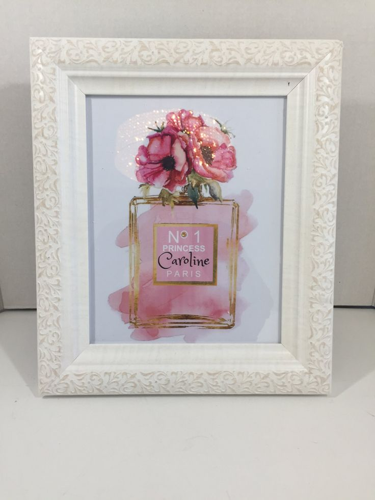 """Unframed Custom Personalized Name """"No.1 Princess"""" Chanel Themed Watercolor 8.5"""" x 11"""" Print Girls Birthday Gift Nursery by PrintcessCharming on Etsy"""