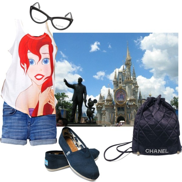 """""""Disney Outfit"""" by quirkygirlfriend on Polyvore. I love it. Ariel is my favorite Disney princess."""