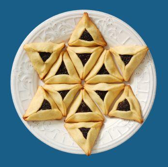 Purim - what a cute way to arrange the hamentashen!