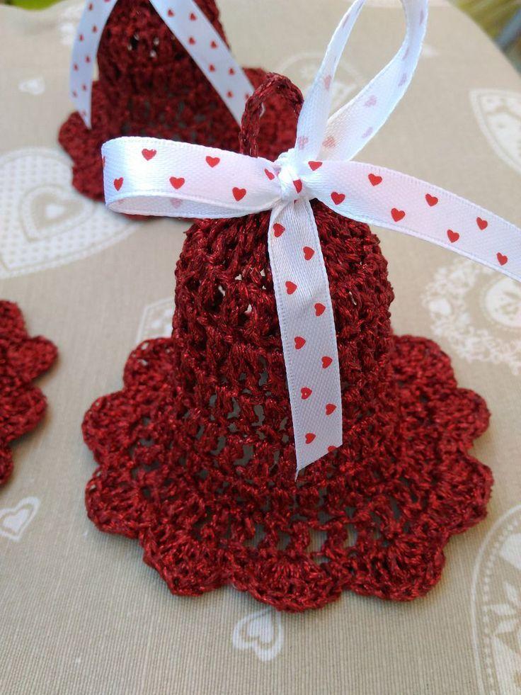 Campanelle Natale rosse addobbi decorazioni tavola casa, by Shop Creativo, 11,00 € su misshobby.com