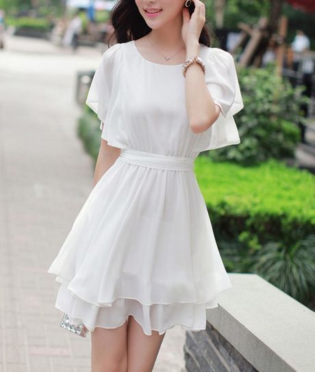 Frill High Waist Dress