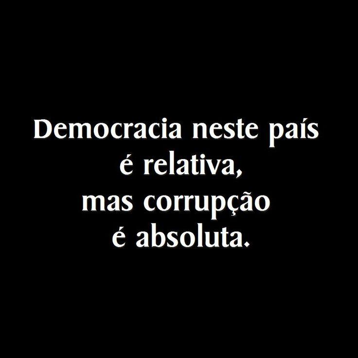 Democracia x Corrupção.!...