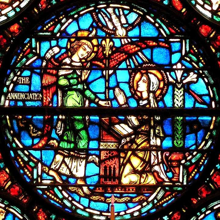 "2004 New Testament Windows - Westminster Presbyterian Church  724 Delaware Avenue, Buffalo, NY, ""Nativity"", 1931, Wilber H. Burnham"