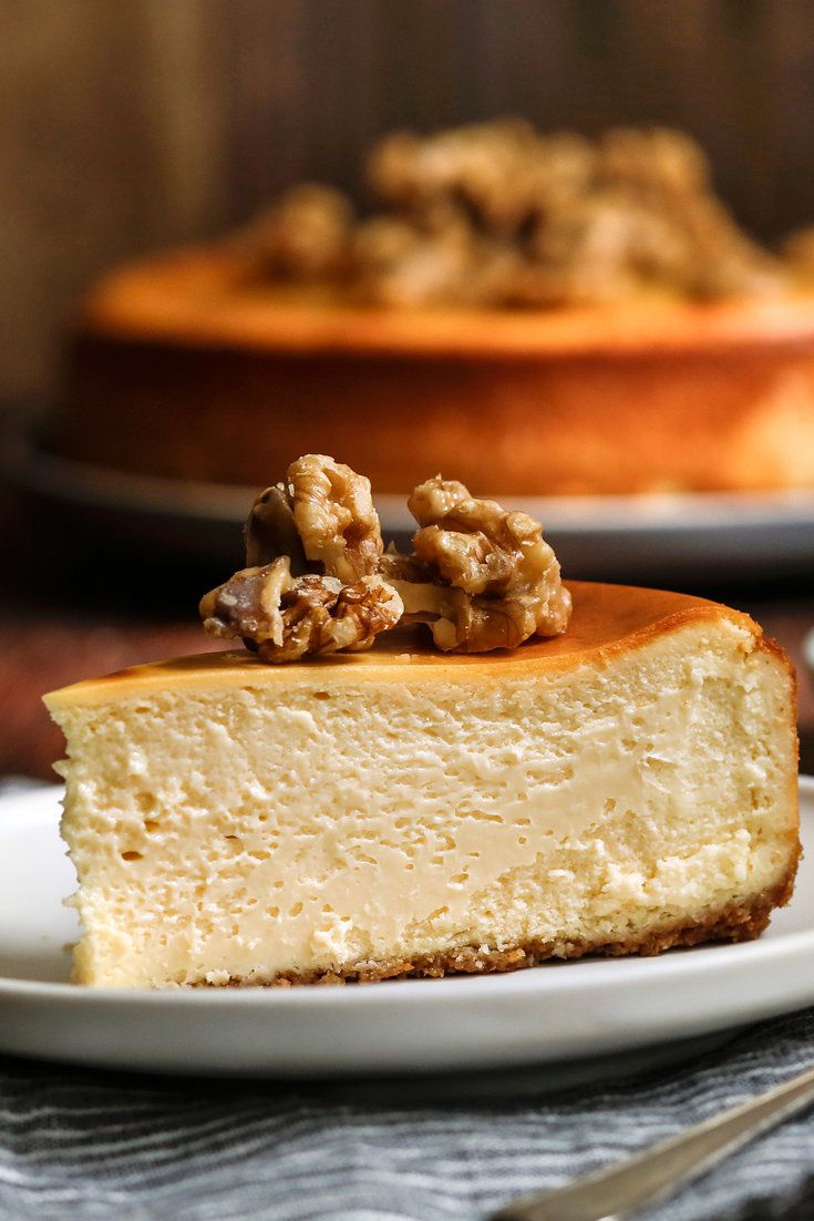 Why doesn't maple syrup find its way to American cheese platters the way chestnut honey does to Italian ones? We think it works particularly well with subtle, creamy cheeses, a conviction that inspired our riff on a classic New York cheesecake. (Photo: Craig Lee for The New York Times)