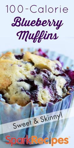 Want something sweet but low in calories? Well, look no further than this delicious, healthy 100-calorie blueberry muffin! Try it today for breakfast or a snack and let us know what you think!