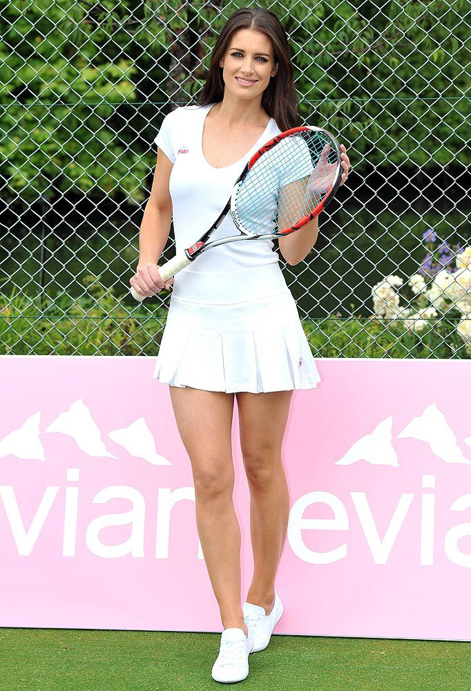 Kirsty Gallacher hot tennis outfit