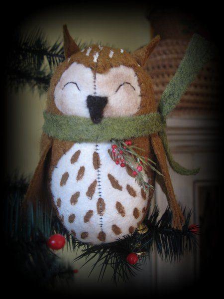 Baby Barn Owl Clip Ornament EPATTERN by by cheswickcompany on Etsy, $4.95