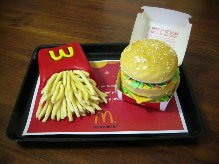Big Mac & Fries Cake