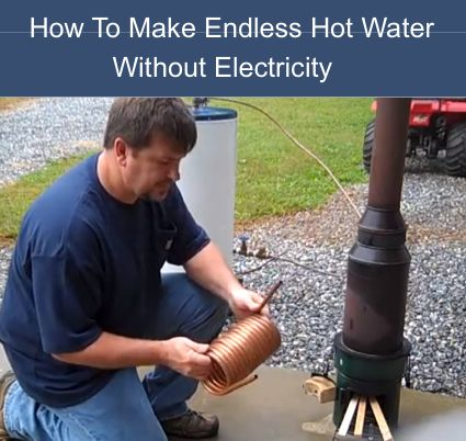 How To Make Endless Hot Water Without Electricity | Homestead & Survival ^