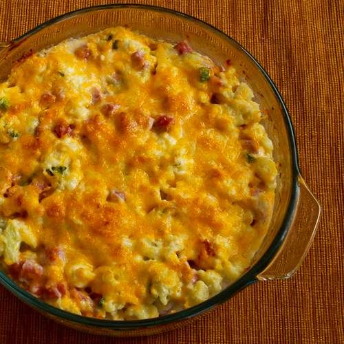 Recipe for Ham and Cauliflower Casserole au Gratin (Low-Carb, Gluten-Free) | Kalyn's Kitchen®