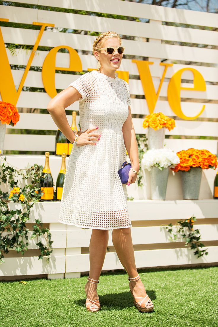 50 Lawn-Ready Looks From The Polo Classic #refinery29  http://www.refinery29.com/veuve-clicquot-polo-classic#slide21  The only thing we love more than Busy Philipps' cage-mesh frock...