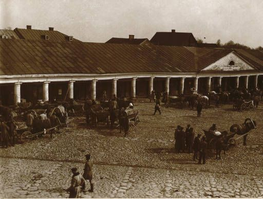 Woj. nowogródzkie: Nowogródek, The market place in Nowogródek :: Jan Bulhak Collection :: Digital Collections :: University at Buffalo Libraries. Click the image to visit the University at Buffalo Libraries Digital Collection and learn more about the photograph. #ublibraries #polishroom #JanBulhak #Poland