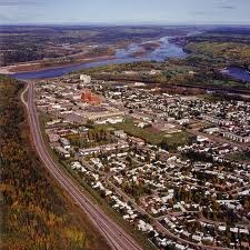 Fort McMurray downtown area looking north