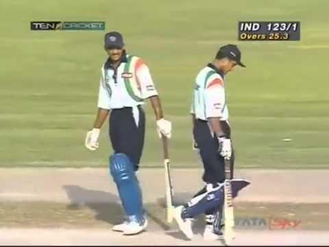 Sourav Ganguly 105 - India v New Zealand at Sharjah Coca Cola Cup 1998