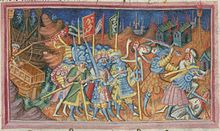 In the autumn of 865, the Anglo Saxon Chronicle indicates that the Great Army successfully invaded, and overwintered in the Kingdom of the East Anglians.[38] That winter the Vikings evidently gained valuable intelligence, and the following spring the same source reveals that they burst forth from East Anglia, on horses gained from the subordinated population, and struck deep into the Kingdom of the Northumbrians, a dominion suffering in the midst of a civil war between kings Ælla (d. 867)…
