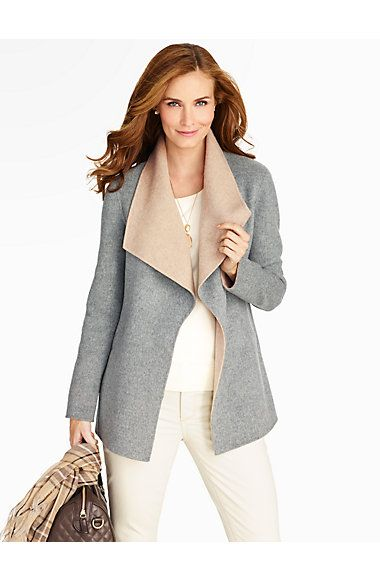 Double-Face Wing-Collar Jacket