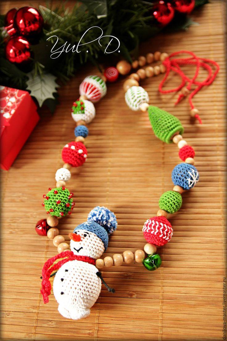 """Слингобусы """"СНЕГОВИК"""" - разноцветный, слингобусы, слингобусы с игрушкой, мамабусы, слинг, снеговик, новыйгод"""