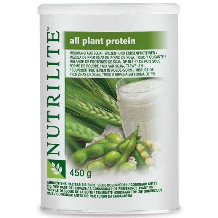 Proteína Vegetal | NUTRILITE proporciona proteínas a base de plantas, derivadas de soja, trigo y guisantes, en forma de polvo.  La Proteína Vegetal NUTRILITE proporciona  proteínas de alta calidad, y suministra cantidades equilibradas de los nueve aminoácidos esenciales. Una ración de 10 g proporciona 8 g de proteínas de soja. Conjuntamente con una dieta balanceada y un estilo de vida sano.