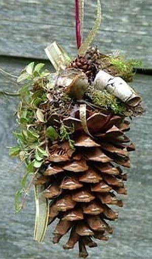 pine cone door hanging christmas pinterest pine cone pine and doors - Pine Cone Ornaments