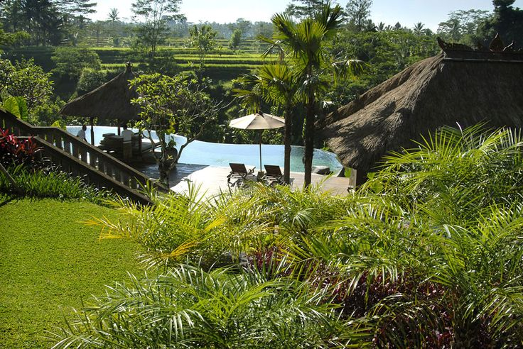 Garden and main pool at Villa Bayad Ubud Bali