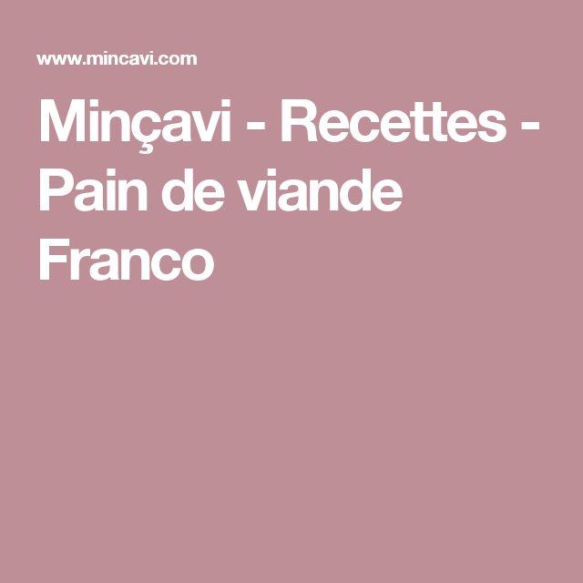 Minçavi - Recettes - Pain de viande Franco