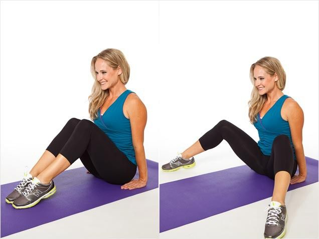 This movement not only sculpts and shapes your inner thighs as you close your legs, but also tones your abdominals and hips as you maintain the move's forward lean.