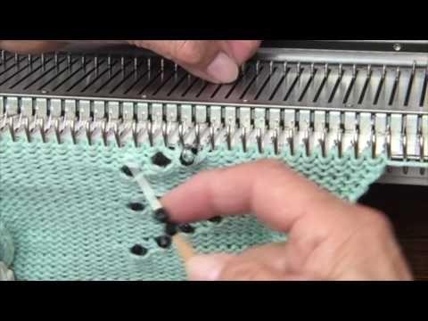 Beading on a Knitting Machine - YouTube