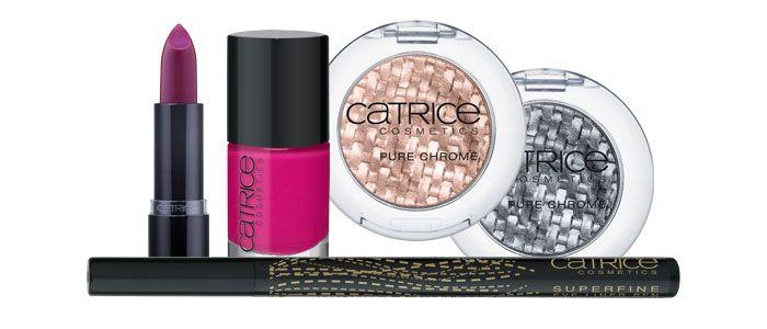 Szukasz pomysłu na spektakularny, ale łatwy do zrobienia makijaż? Sięgnij po kosmetyki Catrice. Marka postawiła na metaliczne złoto i srebro, słodki róż, a także modne odcienie wina.
