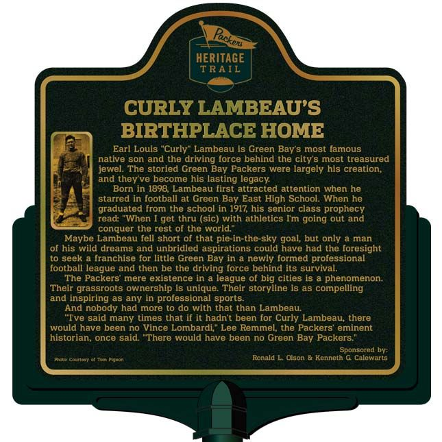Curly Lambeau's Birthplace Home