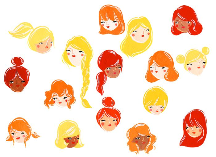 Pretty hair by Krisatomic (from Painterly, via Illustrated Ladies)
