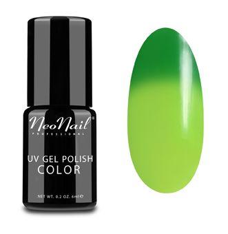 Jeszcze nie wypróbowany, nowy zakup ;)  Lakier termiczny (Thermo Color) NeoNail - płytka na swojej cieplejszej części będzie jaśniejsza, a pozostała część (chłodniejsza; wystająca poza palec) ciemniejsza. | NeoNail Mohito