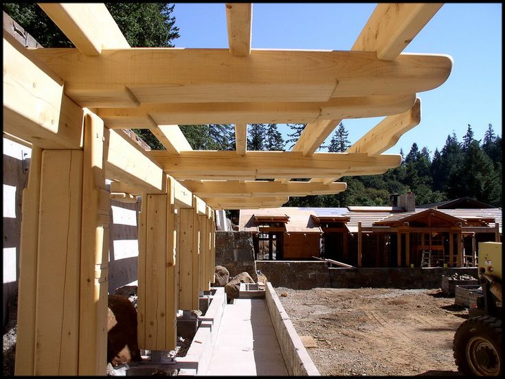 Cantilevered Yellow Cedar Support Beams, details borrowed from The Culbertson Garage
