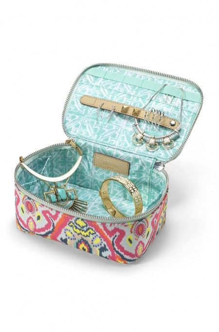 Travel Jewelry Box in multi ikat | Stella & Dot  Now Available!  Use the link in my profile to shop today!  http://www.stelladot.com/ts/390f6