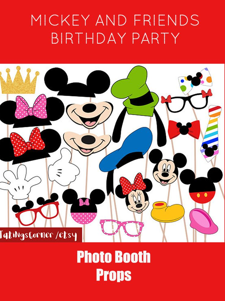 Mickey Mouse  Minnie Mouse  Mickey Mouse Photobooth  Disney Photo Booth  Photo Booth Props  Photo Booth Printable  Mickey Mouse Clubhouse  Mickey Mouse Birthday Party  Mickey Mouse Clubhouse Party  Instant Download #ad