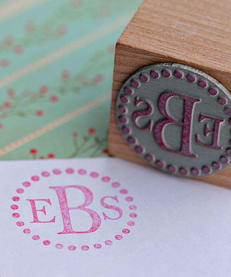 Dot Monogram Stamp.