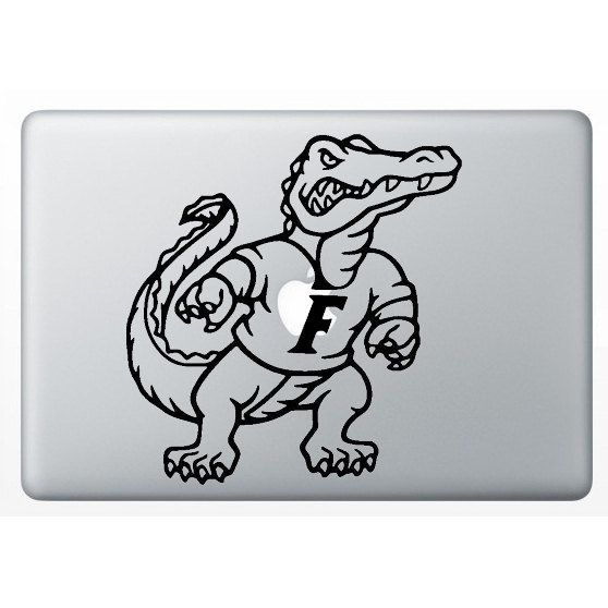 Florida gator macbook decals ncaa football macbook stickers laptop decals laptop stickers iphone