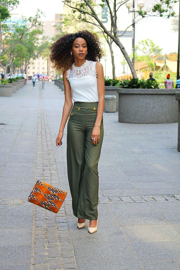 Culottes Palazzo Pants Formal Pants Trends Streetstyle Olive Outfits
